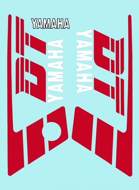 Dekalsats Yamaha DT50MX Vit/Röd