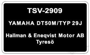 Typskylt Yamaha DT50M/Typ 29J