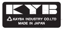 """Skylt """"KYB"""" Yamaha"""