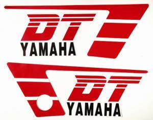 Dekalsats Yamaha DT50MX vit/röd 86-