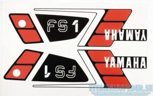 Dekalsats svart Yamaha FS1 89-