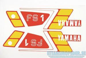 Dekalsats röd Yamaha FS1 89-