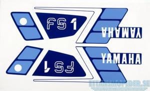 Dekalsats blå Yamaha FS1 89-