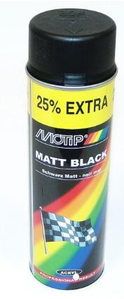 Fantastisk Sprayfärg Matt svart 500ml Motip UC-16