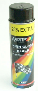 Sprayfärg Svart blank 500ml Motip