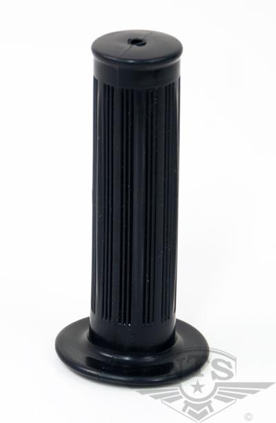 Gummihandtag svart med ränder 22mm Universal