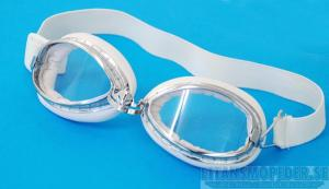 Glasögon klart glas vita Goggles