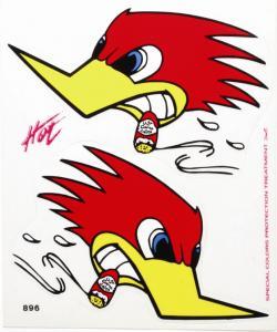 Dekalsats Woodpecker (Hackspett)