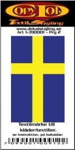 Textilmärke Svenska flaggan