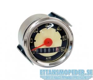 Hastighetsmätare rund 50mm 0-60km/h Universal