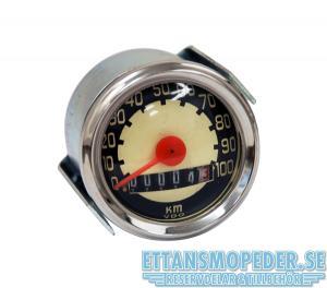 Hastighetsmätare rund 50mm 0-100km/h Universal