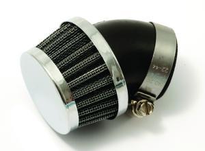 Luftfilter Uni. böjt 45gr 35mm Universal