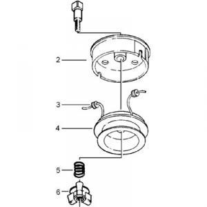 Plastvingsmutter höger till 16-300-00 / 16-300-10