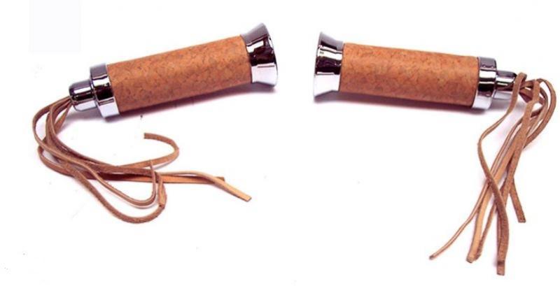 Handtag bruna med fransar 22/24 Universal 1 par