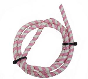 Kabel/Wirehölje vit/rosa 125cm Universal
