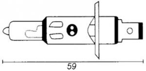 Glödlampa H1/P14.5S 12V 55W