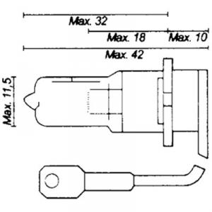 Glödlampa H3/PK22S 12V 55W