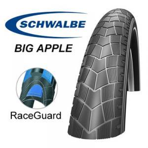 """Däck 18x2,00"""" (50-355) Schwalbe Big Apple"""
