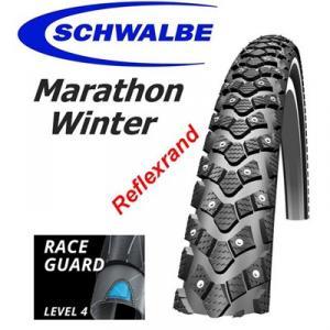 """Dubbdäck Schwalbe Marathon Winter 20x1.55"""" (42-406)"""