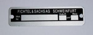 Typskylt Sachs motor