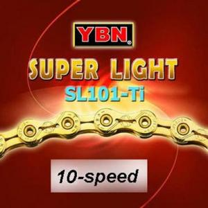 Kedja YBN 10-speed Ti-Gold