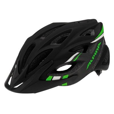 Cykelhjälm Alpina Skid   Svart / Grå Grön Strip...
