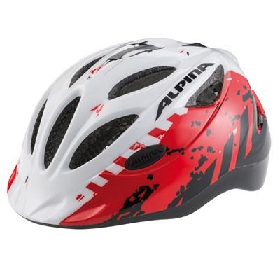 Cykelhjälm Barnhjälm Alpina Gamma  Röd / Vit  4...