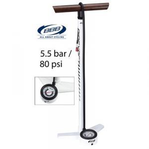 BBB Pump AirExact 5.5 bar fotpump, vit alu