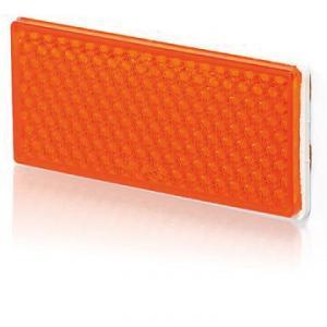 Reflex orange fykantig 105x51mm