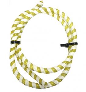 Kabel/Wirehölje vit/gul 100cm Universal
