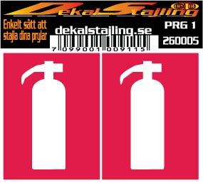 Dekaler brandsläckare röd 1 par