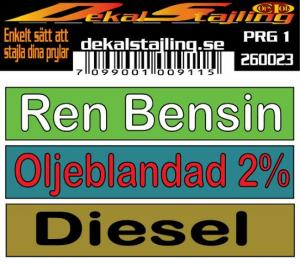 Dekaler Bensin - Diesel