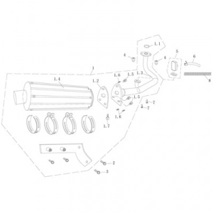 Avgassystem Baotian Sprint