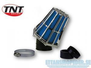 Luftfilter krom/blå 30gr 35/28mm Uni