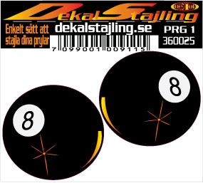 Dekaler boll 8 svart 1 par