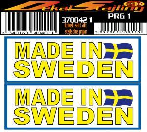Dekaler Made in Sweden 1 par