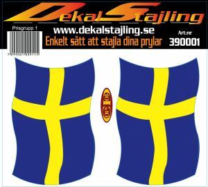 Dekaler Svenska flaggan 1 par