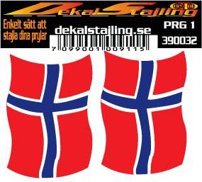 Dekaler Norge flagga 1 par