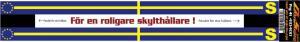 Skylthållardekal Sverige flagga