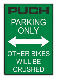 Klisterark Puch parkning only 200x285mm