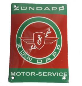 Emaljskylt Zundapp motorservice 10x14cm