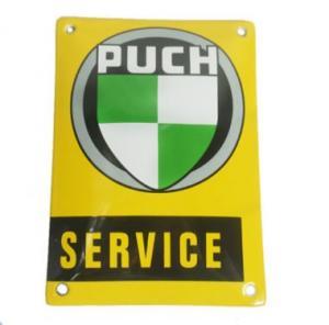 Emaljskylt Puch Service 10x14cm