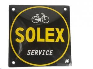 Emaljskylt Solex service 10x10cm