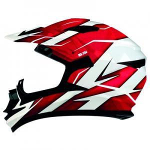 Crosshjälm Shiro MX-734 Röd XL