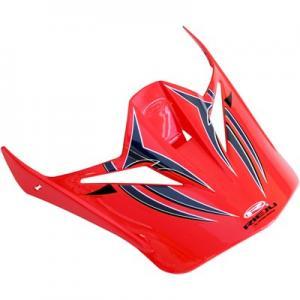 Skärm crosshjälm Shiro MX-305 röd/vit