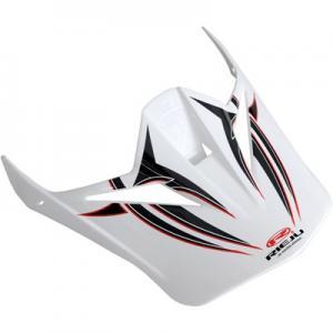 Skärm crosshjälm Shiro MX-305 svart/vit
