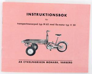 Instruktionsbok Flakmoped ILO motor