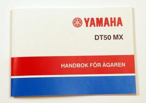 Instruktionsbok Yamaha DT50MX