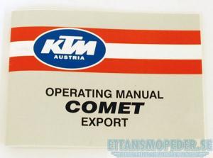 Instruktionsbok KTM Comet
