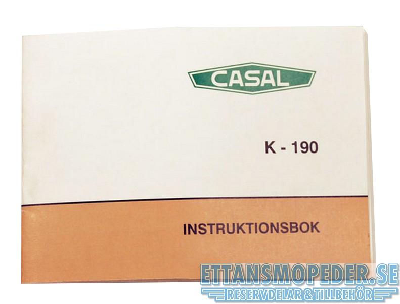 Instruktionsbok Casal K-190 mfl.
